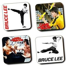 Bruce Lee - The Legend - Martial Arts - Coasters - Set of 4 - Wooden - Gifts
