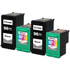 4PK HP 96 97 Ink For Deskjet 5940 5940xi 5740 5740xi 6940 6940dt 6980 6980dt