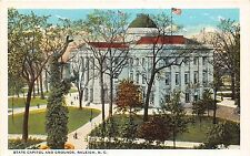 B55/ Raleigh North Carolina NC Postcard c1910 State Capitol and Grounds 3