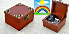 Vintage Classic Square Wind Up Music Box : Somewhere Over the Rainbow