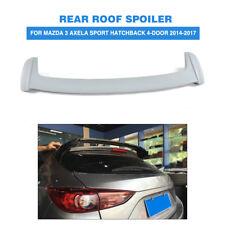 Fits Mazda 3 Axela Hatchback 4-Door 14-17  Rear Roof Spoiler Trunk Wing Lip FRP