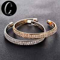 Hot Women Bracelet Jewelry Fashion Style Gold Crystal Rhinestone Bangle Cuff