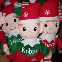 One Plush Personalized Elf - Customized Elves Customized Elf Christmas Elf. Yo