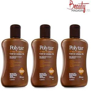 3 X Polytar Scalp Shampoo Itchiness Eczema Psoriasis Dandruff Coal Tar 4% 150ml