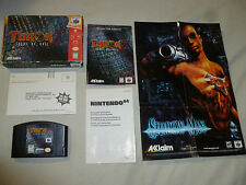 BOXED NINTENDO 64 N64 GAME TUROK 2 SEEDS OF EVIL COMPLETE W BOX MANUAL & POSTER