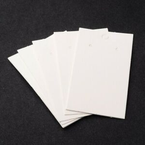 100Pcs Paper Earring Card Jewelry Display Tags with Three Holes for Earrings
