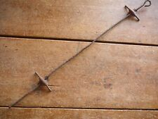 B & B SHEET METAL CLIP PLATE VERTICAL FENCE STAY - ANTIQUE BARBED WIRE FENCE