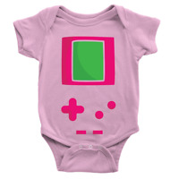 Game Baby Girl Babygrow Video Gaming Retro Body Suit Gift Cool New Baby Arrival