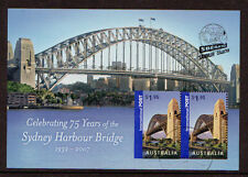 AUSTRALIA 2007 SYDNEY HARBOUR BRIDGE MINIATURE SHEET OPT. SBERATEL, PRAGUE  FU.