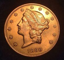 1899 $20 GOLD Liberty Head RARE Excellent Conditon