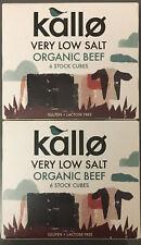 Kallo Beef Stock Cubes - Low Salt & Organic 2x Packets