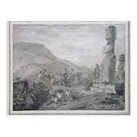 "*Postcard-""The Islanders & Monuments"" /1786/ @ Easter Island"" -CHILI-  (C33)"