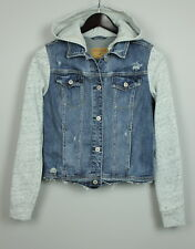 HOLLISTER Women's Denim Mixed with Tricot Hooded Jacket / Jumper [SIZE MEDIUM]