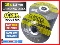 10 Pack Metal Grinding Discs 115mm x 22.2mm x 6mm Disks Depressed Centre Angle
