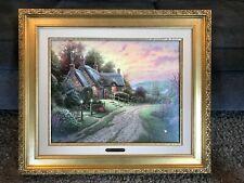 Thomas Kinkade A Peaceful Time Framed Canvas 16 x 20 G/P 222 of 1100 w/COA