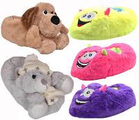 Ladies Winter Novelty Slippers Unisex Soft Warm Slip on Girl Teddy Dog Xmas Gift