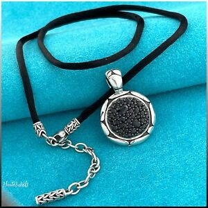 JOHN HARDY Sterling Silver Kali Sapphire Pendant Adjustable Necklace STUNNING
