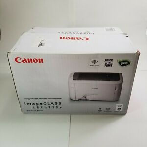 New Open Box Canon Wireless Laser Printer Image Class LBP6030w Desktop White