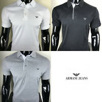Men's Armani Jeans Top Short Sleeve Polo Shirt