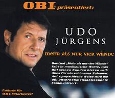 UDO JÜRGENS - MAXI-CD - MEHR ALS NUR VIER WÄNDE