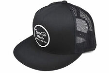 BRIXTON WHEELER TRUCKER MESH SNAPBACK BLACK ONE SIZE AUTHENTIC IMPORTED FROM USA