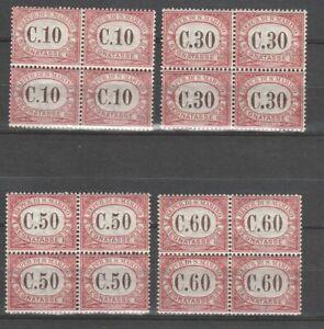 S37565 San Marino MNH Set 1924 Postage Stamps c.10 +30+50+60 4v Saxon 11/14