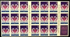 Us Booklet Pane of 20 Scott #3123a Love Swans 32 Cent, Plate Number B1111