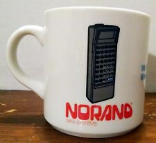 VINTAGE NORAND DATA SYSTEMS COFFEE MUG CUP Computer Phone calculator white