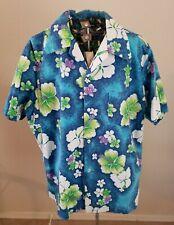 """Vintage 1950s-60s Mens Hawaiian Shirt """"Hawaiian Paradise"""" Label Made in Hawaii"""