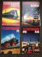 Lot x4 Model Railroad Catalogs - Fleischman 75/76, 79/80 80/81 81/82
