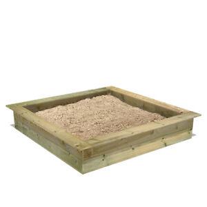 WICKEY King Kong 120 Sandkasten Sandkiste mit Sitzbank Garten Kinder Buddelkiste
