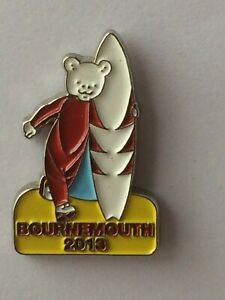 RUPERT BEAR Collectable Badge * RUPERT Bournemouth 2013 * vgc