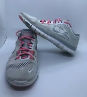 Nike Free 5.0 TR Fit 4 Running Shoes White Silver Pink Women's Size 7 Pre-Owned