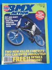 VINTAGE FEBRUARY 1985 BMX ACTION MAGAZINE RED LINE 700P DIAMOND BACK SUPER VIPER