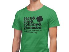 St Patrick's Day Funny T-Shirt Founding Four Fathers Comedy Drinking Tee Green