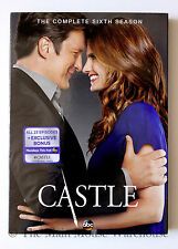 Nathan Fillion Castle The Complete 6th Season Crime Drama on DVD with Slipcover