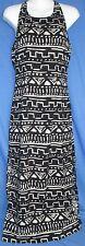 Womens Yaya Nom de Plume Dress Black Beige Aztec Size 2