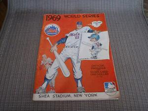 1969 World Series Baseball Program Orioles vs Mets Shea Stadium Unscored