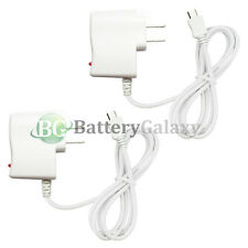 2 White Battery Wall AC Charger for Motorola Moto X Nexus 5 LG G2 Nokia Lumia