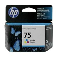 HP 75 Tri-Color Ink Cartridge CB337WN Genuine New