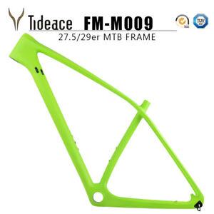 Super Light T800 29er Carbon Mountain Frames Green OEM AERO Bike Frameset PF30