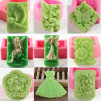 Fairy Tail Mouse Silicone Mold A962 Acrylic Resin for Edible Candy Wax Soap