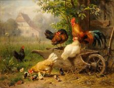 METAL MAGNET Roosters Hens Chicks Bird Birds Farm Chicken Rooster Art MAGNET