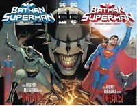 Batman Superman #1 A B Connecting  Covers 1st App Dark Shazam DC Comic 2019 NM