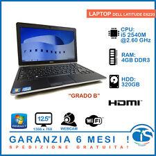 NOTEBOOK PC COMPUTER ECONOMICO DELL 6220 LATITUDE 4GB 320HDD I5 2540m WIFI W7 B