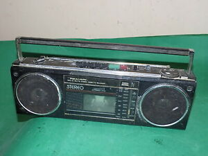 REALISTIC SCR-52 Portable 80s STEREO FM RADIO CASSETTE BOOMBOX Vintage SPARES