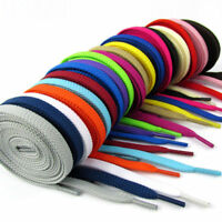 1 Paire Lacet PLATS Cordons De Chaussure Lacets Shoelaces 20 Couleurs 130CM 8mm