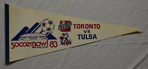 Vintage Soccer Bowl 1983 Toronto Blizzard Tulsa Roughnecks white NASL pennant