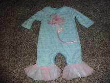 BOUTIQUE CACHCACH CACH CACH 6M BLUE OUTFIT W FLOWER