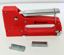 STAPLE GUN INCLUDES STAPLES STAPLER SUITABLE FOR 4MM-8MM LIGHTWEIGHT RED